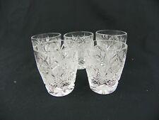 Vintage Crystal Shot Glass Set of 5