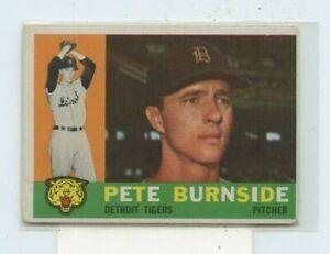 PETE BURNSIDE 1960 Topps #261 Detroit Tigers