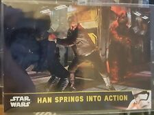 2016 Star Wars Force Awakens 2 #44 Han Springs Into Action GOLD 095/100