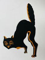 Vintage Halloween FOLK ART 20s 30s handmade? black cat