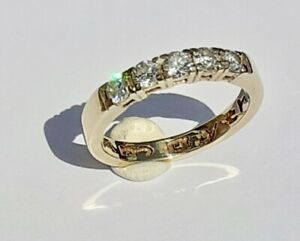 Welsh Clogau 18ct Gold 0.50 Point Diamond Eternity Band Ring Yellow Gold Size K