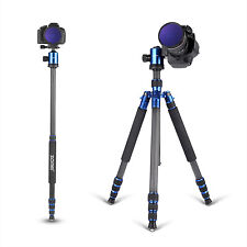 Zomei Z818c Pro Carbon Fiber Tripod Travel Monopod Ball Head for DSLR Camera
