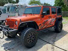 Set of 2 decals custom graphics for Wrangler JK JL Jeep KL mud splash off-road