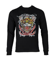 Ed Hardy Mens Black Roar Japan Crew Neck Sweater ~ Size Small  RRP: £65.00