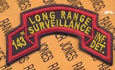 143rd Inf Det TX ARNG LRS AIRBORNE RANGER scroll patch