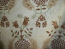 3.50 Yards Braemore Fabric  Gold  Brown  Print Drapery Upholstery