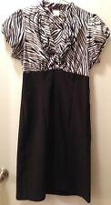 NEW - BLACK DRESS w/Black & White Striped Bodice - Junior's Size 7