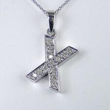 """14KT Genuine Diamond Initial """"X"""" With 14KT Chain"""