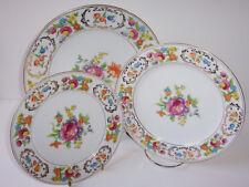Vintage Noritake Floral Dresdena Salad Luncheon Dinner Plates Trio Japan 1931