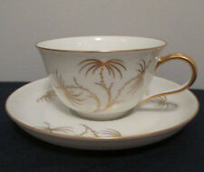 ROSENTHAL/CONTINENTL PATTERN GOLDEN PALM CUP AND SAUCER