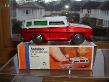 TINPLATE FRICTION AMBULANCE MADE IN CHINA WITH ITS BOX  SCROLL DOWN 4 THE PHOTOS