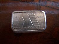 USVI  A Mark 1 Oz Pure Silver Art Bar Fine 999 1981  31.1 Gram