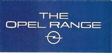 Opel 1981 UK Foldout Brochure Kadett Ascona Manta Rekord Commodore Senator Monza