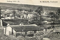 16324 AK,CPA,Feldpost,poste militaire,St.Marie-a-Py,Dorf,Feldzug1914-15, um 1915