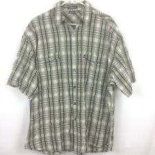 Kangol Short Sleeve Button Front Plaid Shirt Men's XL