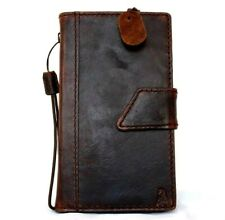 Genuine Natural Leather Case for Samsung Galaxy Note 4 Book Wallet Cover Slim