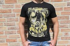 Herrenshirt Skull Totenkopf Hund Print schwarz *NEU* Gr. XXL