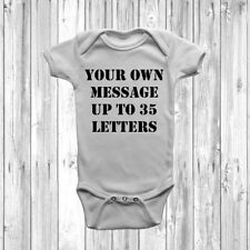 Personalised Embroidered Baby Grow Great Newborn Gift Bodysuit Vest Slogan