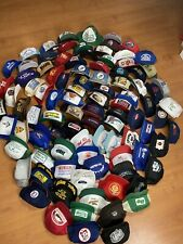25 Random Trucker Hat Lot Snapback Mesh Patch Cap USA Asian 70s 80s Sports Caps