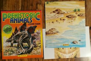 Panini Prehistoric Animals 1994 Sticker Album + 3d Pull Out Incomplete
