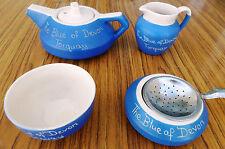 Vintage 1930's Devonmoor Blue Pottery Set - The Blue Of Devon Torquay