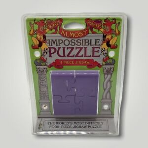 Nearly Almost Perhaps Impossible Puzzle-4 Piece Jigsaw 1997 NEW