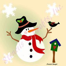 SNOWMAN STENCIL CHRISTMAS BIRDHOUSE BIRD STENCILS TEMPLATE SNOWFLAKES CRAFT NEW
