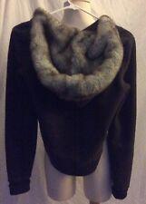 Abercrombie Faux-fur Lined Women's Dark  Grey Hoodie (s)
