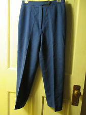 VINTAGE EVAN PICONE ROYAL BLUE LINED WOOL FLAT FRONT DRESS PANTS SIZE 10