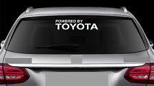 Rear Window Sticker fits Powered by Toyota New Vinyl Decal Car Emblem Logo RW74