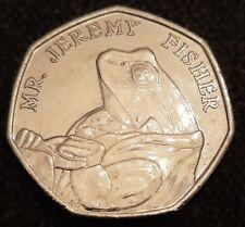 2017 Beatrix Potter Mr Jeremy Fisher 50p Coin - Free P&P