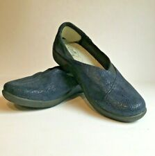 Clarks Cloudsteppers Slip On Shoes Size 8.5M US Dark Navy Slip On Comfort