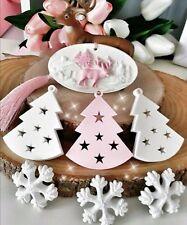 Moule en Silicone thème Noël sapin etoiles pour Pâte Polymère Fimo Platre WEPAM