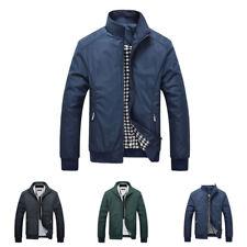 Hombre cálido de invierno Casual Para Trabajo Ajustado gabardina chaqueta corta