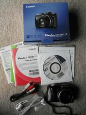 Canon PowerShot SX130 IS Digital Camera W/ Disk & Cables - TESTED & WORKING
