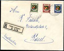 LIECHTENSTEIN 1927 75-77 auf R-FDC ERSTTAGSBRIEF TADELLOS und selten 600€(S7754