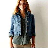 🛍Women's Sonoma Jean Jacket - 2X - Stretch Med Blue
