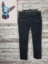 Hudson Blinder Skinny Biker Mens Ribbed Knee Streetwear Jeans Black Size 33