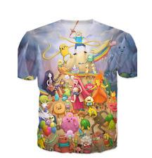 New Adventure Time T-Shirt Men Women Gift Kids Boys Girls 3D Fashion Summer