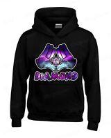 Diamond Galaxy Cartoon Hands Hoodie Illuminati Cool Graphic Novelty Sweatshirts
