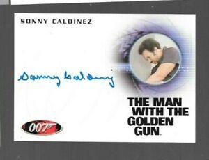 Sonny Caldinez A184 James Bond autograph card 50th Anniversary