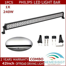 42Inch 240W PHILIPS Led Light Bar Flood Spot Driving Suv ATV Jeep Track 120W 36W