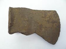 Antique Wrought Iron Primitive Early Broad Head Axe Head Cutting Tool Ax Part