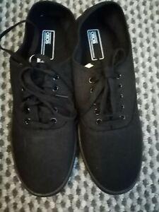 Asos Black Bnwt New Pump Plimsole Size 8 Lace Up Flat Unisex Shoe