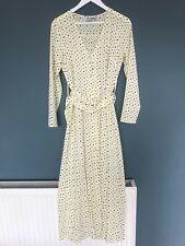 Asos Vestido Blanco/Crema Dálmata irregulares Size UK 10