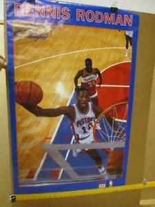1990 Dennis Rodman Starline Basketball Poster    Pistons