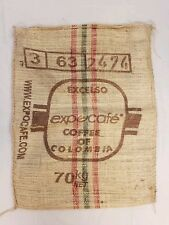 Product of Columbia Medellin Excelso Burlap Coffee Sack/Bag!