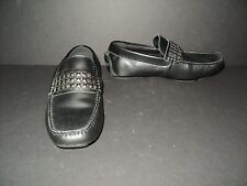 Rock & Republic Men's Size 7 IGGI Driving Loafers Moccasins Black Leather