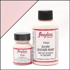 Angelus Acrylic Leather Paint Pink 1 oz Bottle Colour for Shoes Water Resistant
