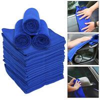 20Pcs Large Blue Microfibre Cleaning Auto Car Detailing Soft Cloths Wash Towels